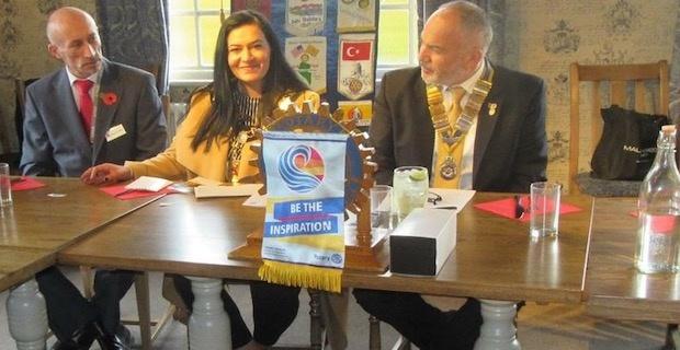 Enfield mayor Saray Karakus visits the Rotary Club of Southgate