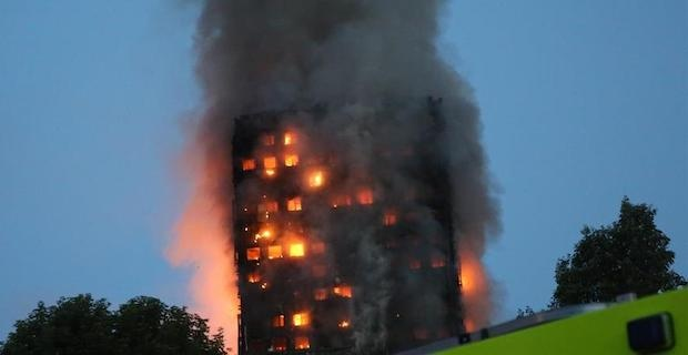 UK: Video of burning Grenfell Tower effigy spurs outcry