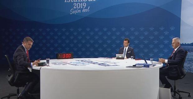 Ekrem Imamoglu and Binali Yildirim candidates spar in Istanbul mayoral race debate