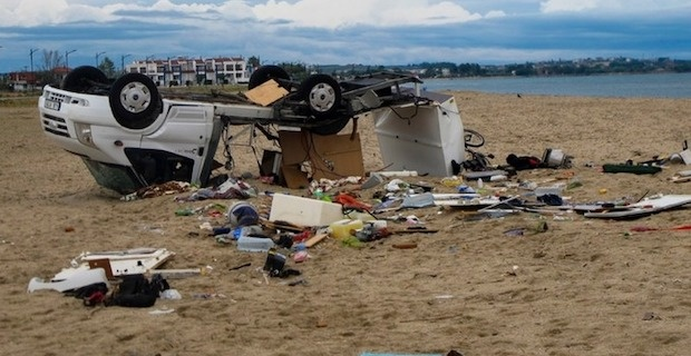 Tourists die as freak storm hits northern Greece