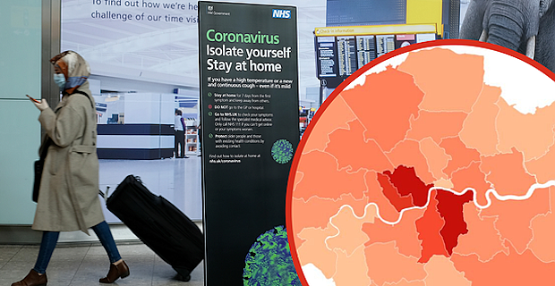 The boroughs with the most Covid-19 cases as total across the city hits, London coronavirus