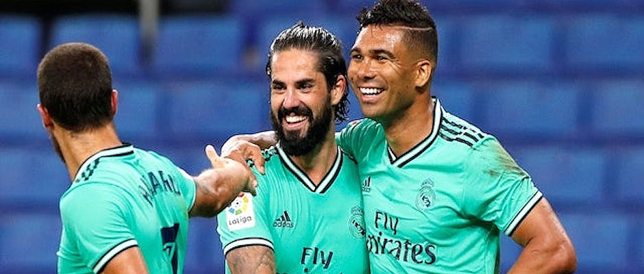 La Liga: Real Madrid 2 points clear at top of table