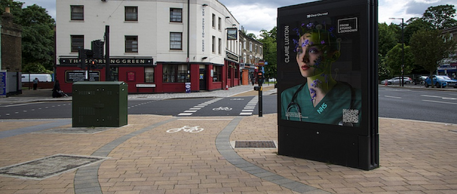 Art from Studio Lock down takes to the streets of Enfield