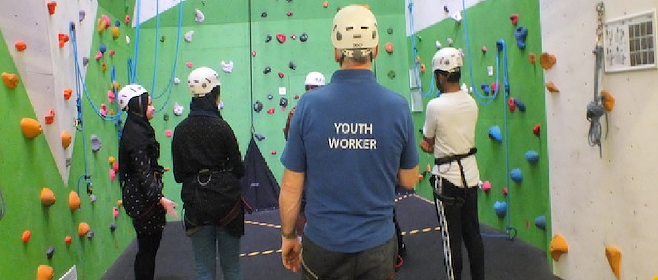 Scaling new heights with relaunch of Enfield Council's Craig Park climbing wall