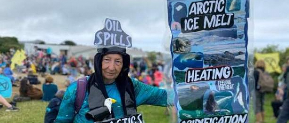 An Extinction Rebellion protest is taking place in St Ives
