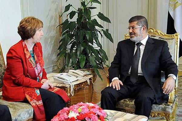 Catherine Ashton said Morsi well