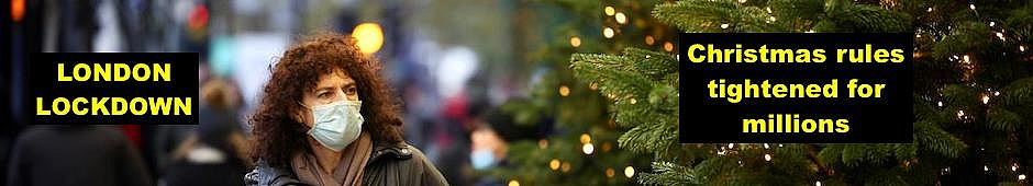 London lockdown, Christmas rules tightened for millions, latest
