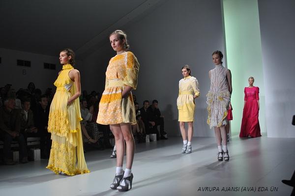 Turkish designer Bora Aksu opened this year's London Fashion Week