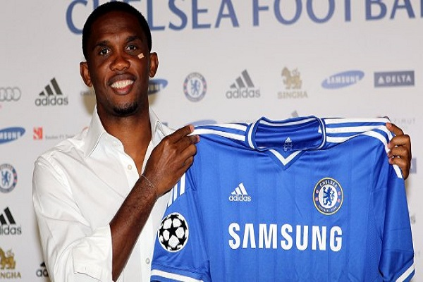 Chelsea Football Club signed Samuel Eto'o from Anzhi Makhachkala