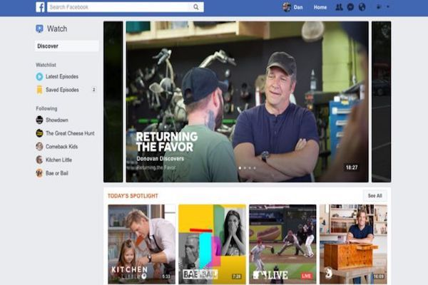 Facebook introduces new service against YouTube and TV networks