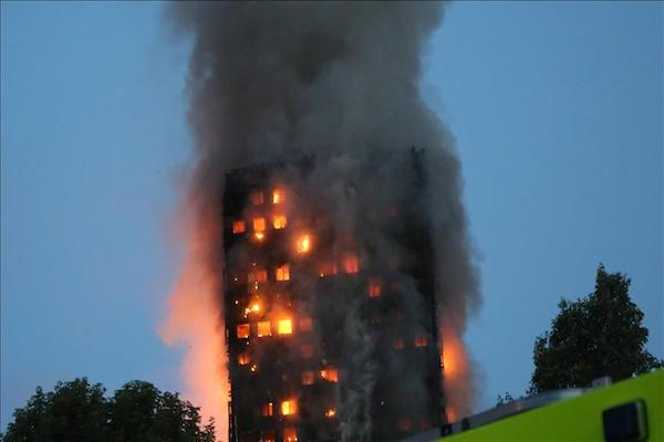 Huge blaze in west London apartment block claims lives