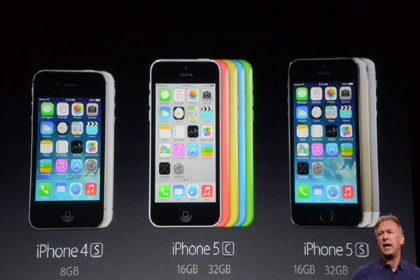 iPhone 5S comes in silver, gold and space grey