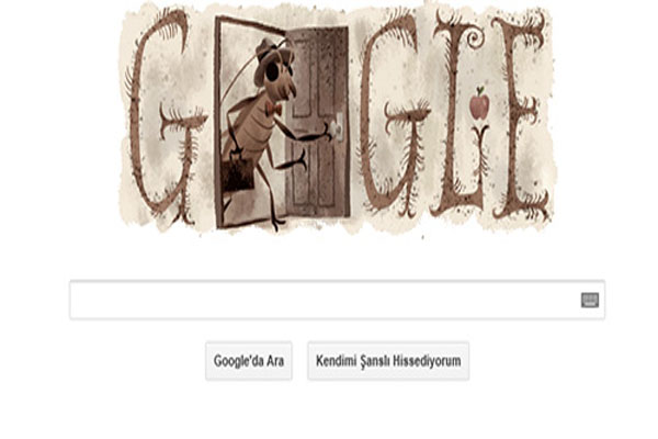 Google celebrated Kafka's 130th birthday with a Doodle