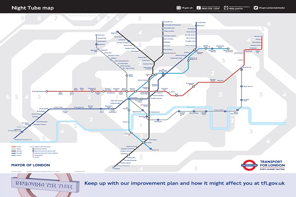 A new 24-hour Tube service at weekends from 2015