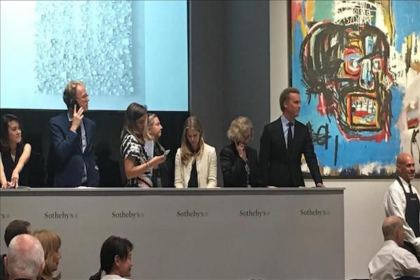American artists painting fetches record $111M at NYC auction