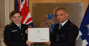 Turkish heritage police officers with Haringey Police were honoured