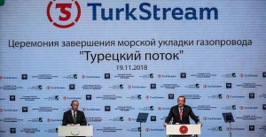 Russian media covers launch of TurkStream's sea section