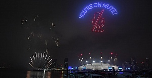 England sees in 2021 with fireworks and light show