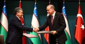 Erdogan, Uzbek counterpart Mirziyoyev discuss politics and military