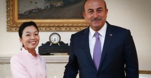 Turkish foreign minister meets Japanese princess