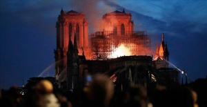 Macron pledges to rebuild Notre Dame Cathedral