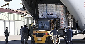 Republic of Turkey delivers medical aid to UK to help fight virus, lates