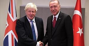 Turkish president meets British premier at NATO summit