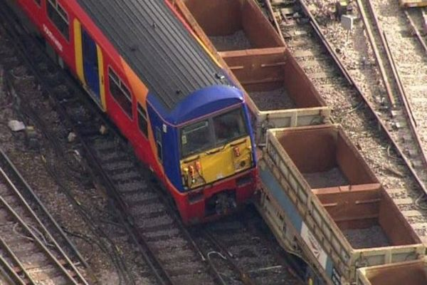 Train derails outside London Waterloo station
