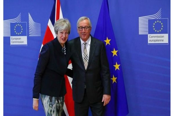 Theresa May is meeting EU figures in an attempt to finalise the Brexit