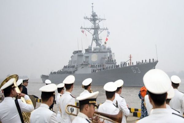China says presence of a US warship is a provocation