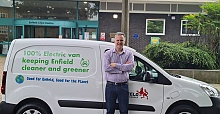 The entire Enfield Council small van fleet is going electric, contributing to the Council's commitment