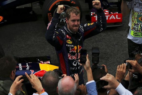 Vettel ends F1 season with 9th straight win at Brazilian GP