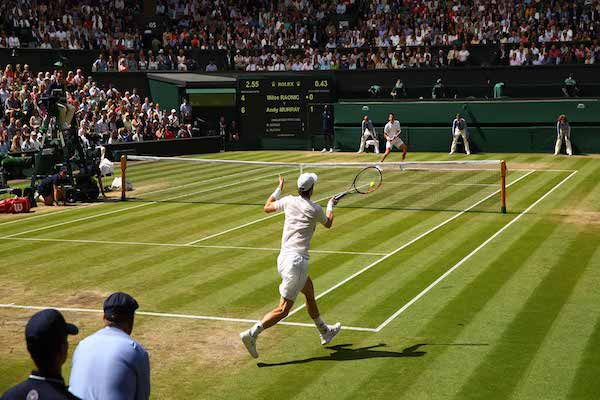 Andy Murray begins the defence of his Wimbledon title