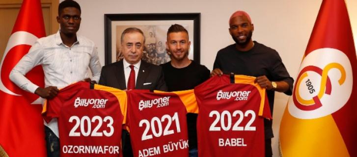 Galatasaray announce 3 new transfers