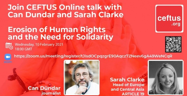 Erosion of Human Rights and the Need for Solidarity with Can Dundar and chaired by Sarah Clarke